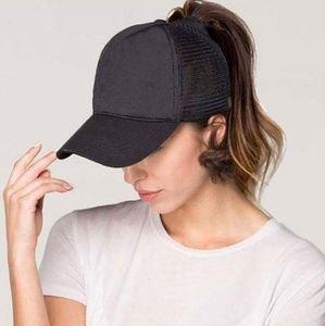 New messy bun high ponytail trucker hat